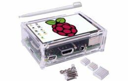 Raspberry Pi ganha case com display de LCD sensível ao toque