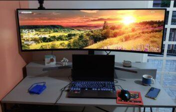 Review do monitor Samsung GHG90 de 49 polegadas: espaço não falta e isso é ótimo