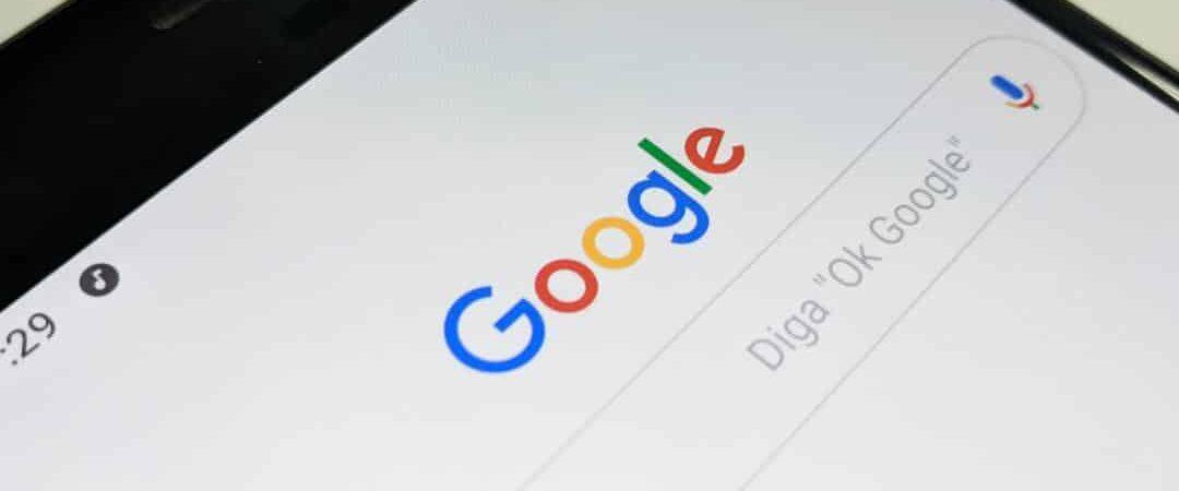 navegador do google em um celular