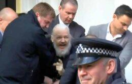 Julian Assange, fundador do WikiLeaks, é preso pela polícia de Londres