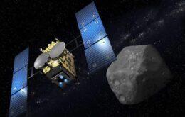 Confira imagens da cratera feita em um asteroide por sonda espacial japonesa