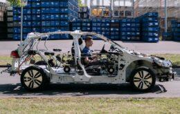 Volkswagen faz carro elétrico com esqueleto visível para incentivar aprendizado