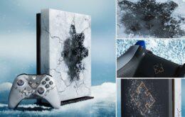 Microsoft lança console Xbox One X com tema do Gears