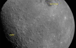 Índia mostra primeira foto da Lua feita pela sonda Chandrayaan-2