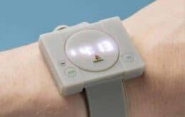 Empresa lança relógio em forma de PlayStation
