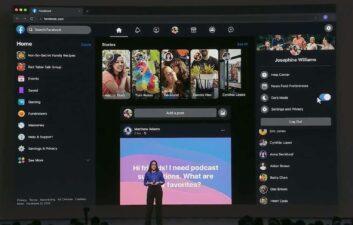 Facebook lança nova interface e modo escuro para navegadores