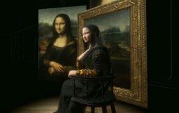 Monalisa em 3D no Louvre, de Paris
