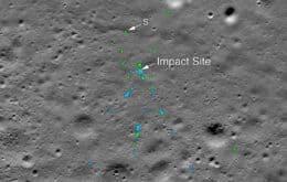 Nasa encontra os restos da sonda que colidiu contra a superfície lunar