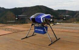 Drone que transporta cargas pesadas é testado no Japão