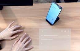 Samsung revela teclado 'invisível' para digitar no celular