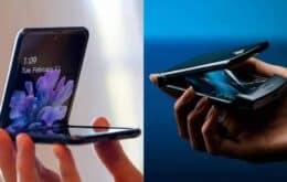 A batalha dos celulares dobráveis: Galaxy Z Flip vs Motorola RAZR