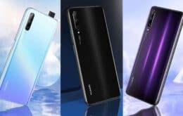 Huawei Y9s lançado com câmera frontal pop-up