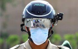 Capacete inteligente ajuda policiais a identificarem febre