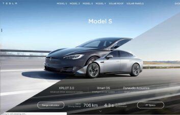 Empresa chinesa copia até o design do site da Tesla