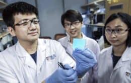 Cientistas criam material flexível luminoso que se 'cura'