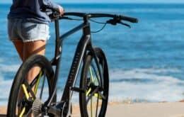 Bicicleta eléctrica impresa en fibra de carbono personalizada cuesta más de R $ 20