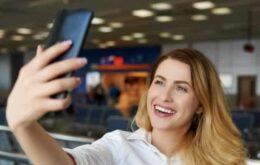 Embarque aéreo por meio de selfies