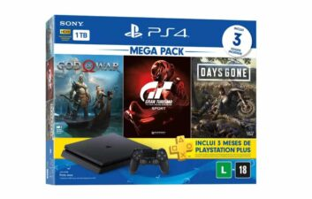 Playstation anuncia novo PS4 Mega Pack com três jogos exclusivos
