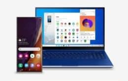 Parceria permite rodar aplicativos do Galaxy Note 20 em PCs com Windows 10