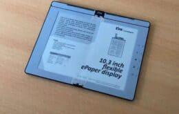 Empresa mostra protótipo de e-Reader dobrável com caneta digital