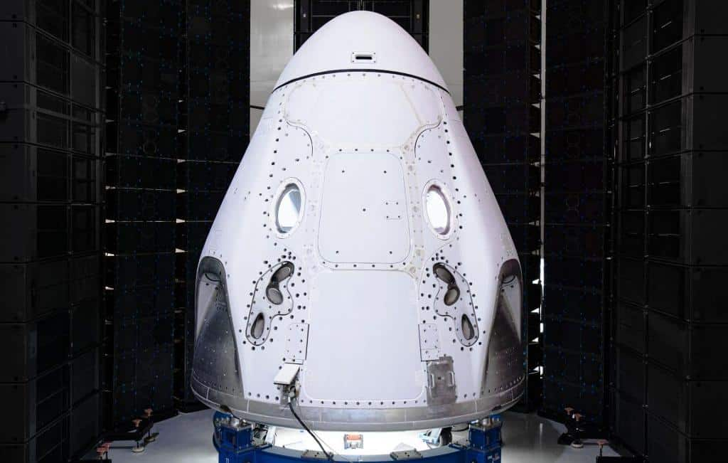 Crew Dragon capsule, used in SpaceX manned missions