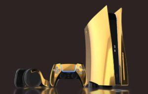 Empresa cria versão folheada a ouro do PlayStation 5