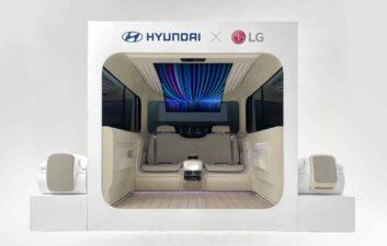 Hyundai Motors y LG presentan la cabina del futuro para coches eléctricos