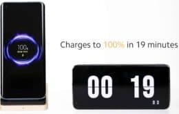 Carregador sem fio da Xiaomi enche bateria de 4.000 mAh em 19 minutos