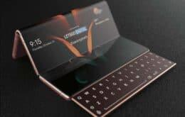 Próximo dobrável da Samsung terá duas dobradiças e teclado deslizante