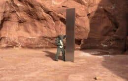 Misterioso monólito de metal visto em deserto dos EUA desaparece