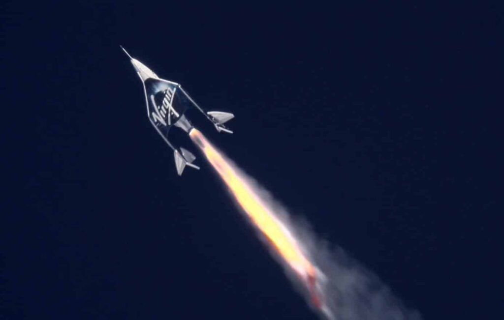 Voo suborbital da VSS Unity, da Virgin Galactic