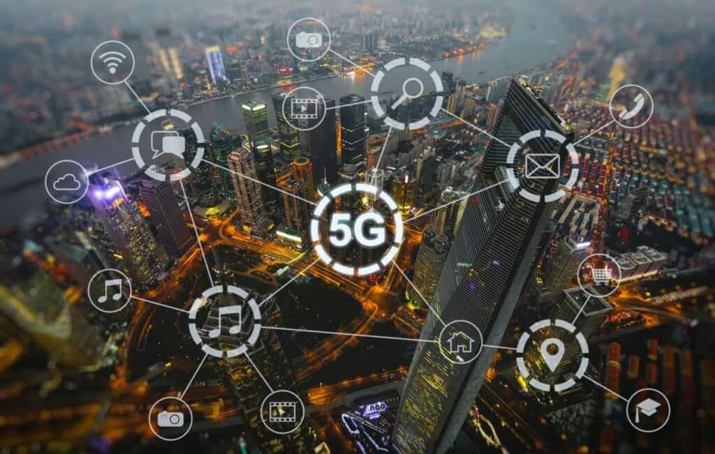 Ilustração sobre redes 5G