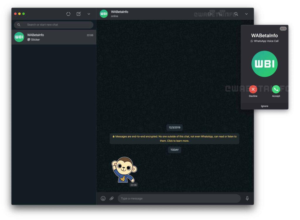 Versão beta do WhatsApp Web com ligação de voz e vídeo