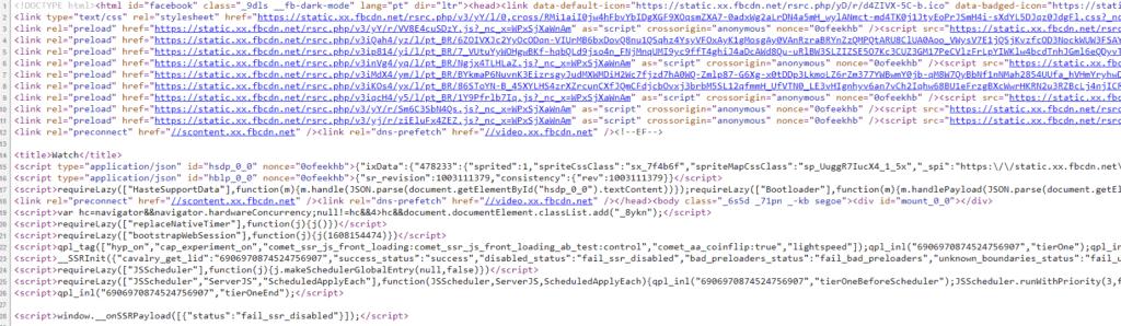 código html para baixar vídeos do facebook