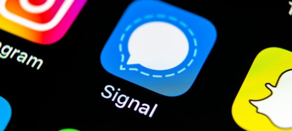Símbolo app Signal