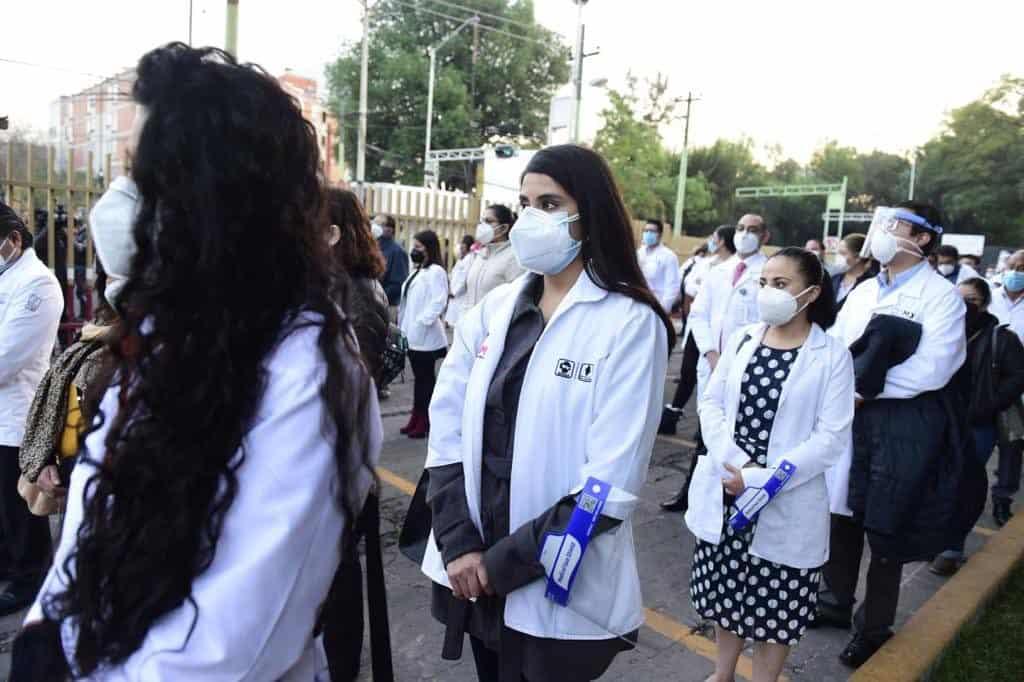 Profissionais de saúde do México