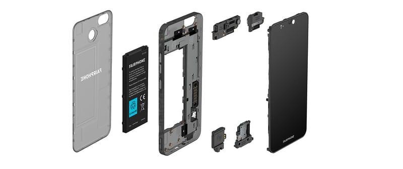 Fairphone 3 tem seus componentes internos com troca facilitada.