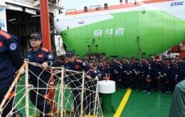 Submarino chinês chega a um dos pontos mais profundos dos oceanos