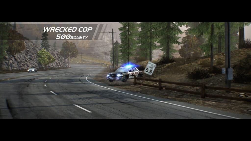 Need For Speed Hot Pursuit Remastered - Carro da polícia destruído