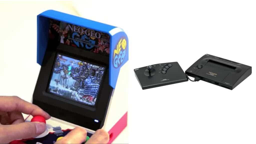 SNK vai lançar novo console: o Neo Geo Mini (esq.) foi uma releitura do Neo Geo original (dir.), ambos lançados pela empresa