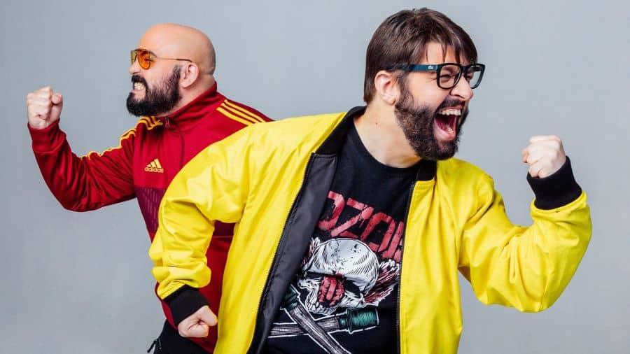 Alexandre e Azaghâl, apresentadores do Podcast de culturar pop Nerdcast