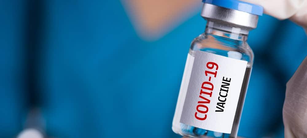 Ampola com suposto liquido de vacina contra Covid-19