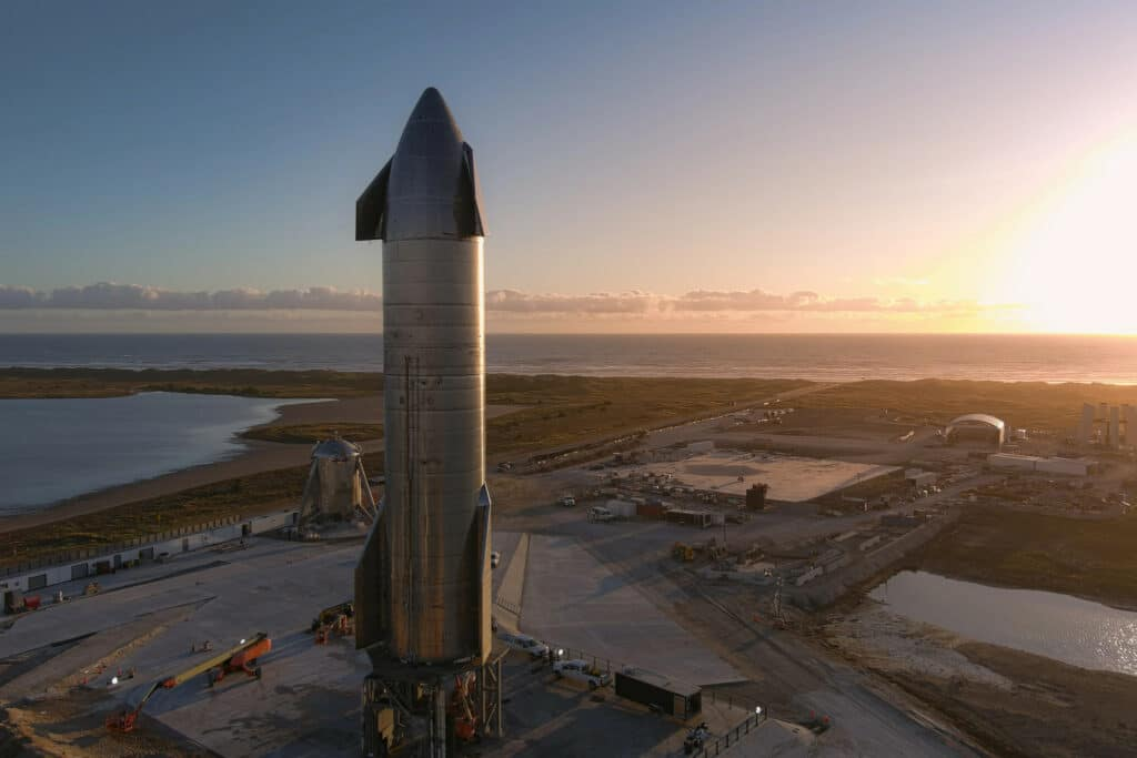 SpaceX Starship SN8 on the launch pad