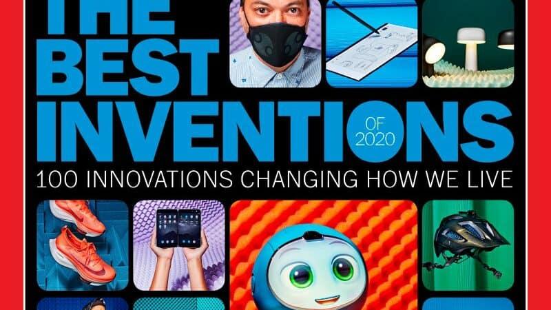 Capa da Revista Time com as cem melhores invenções de 2020.