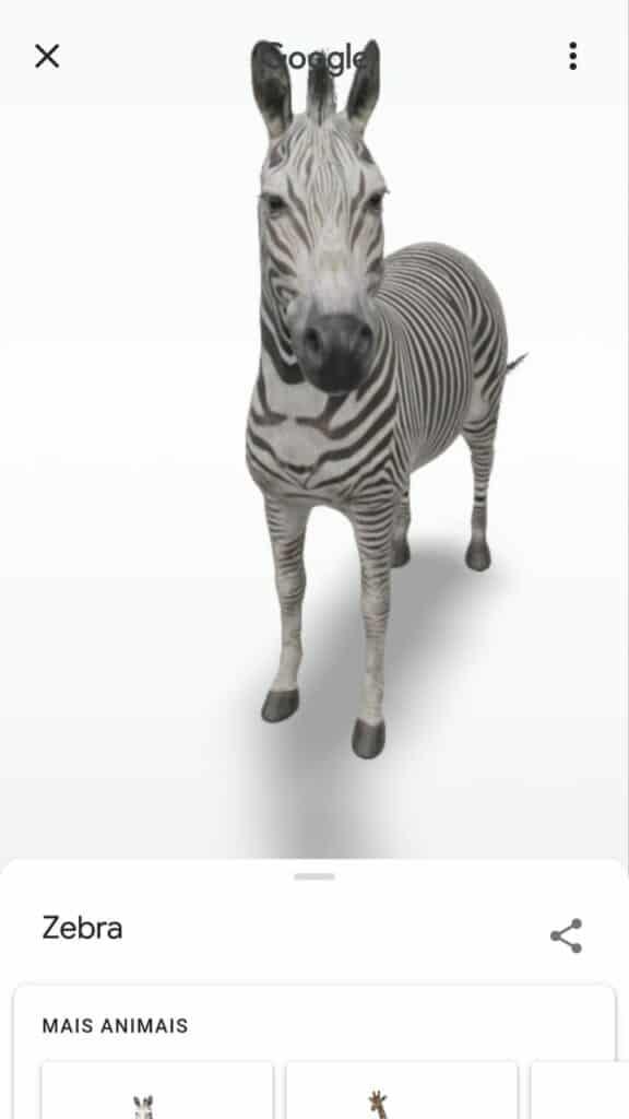animais em 3d no google