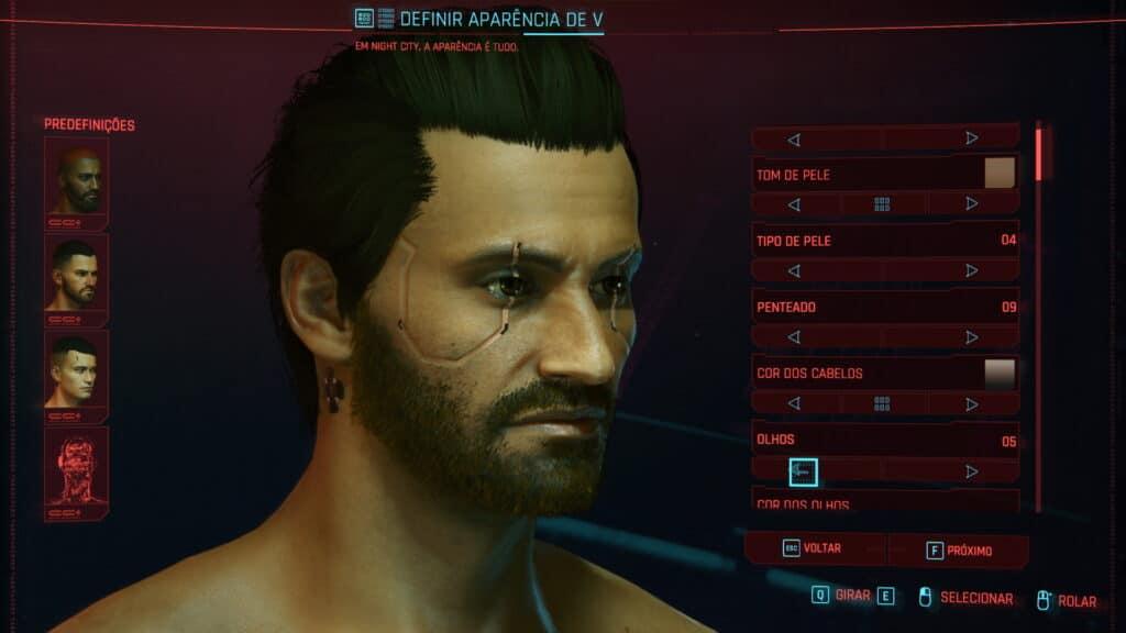 Creación de personajes - Cyberpunk 2077