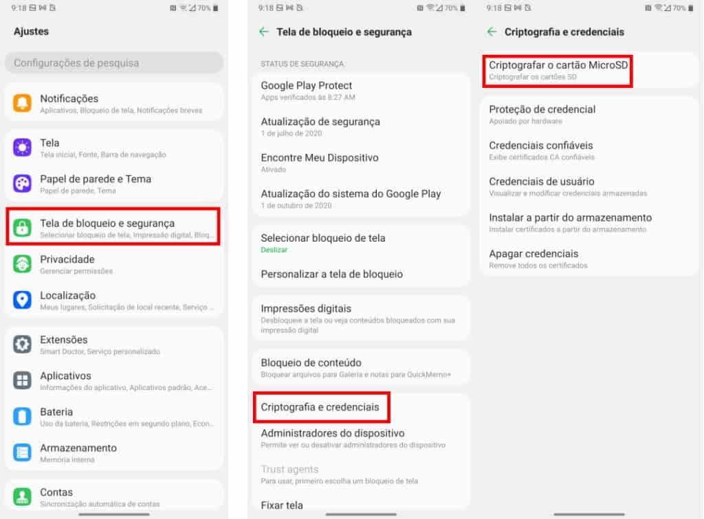 Criptografia do Android
