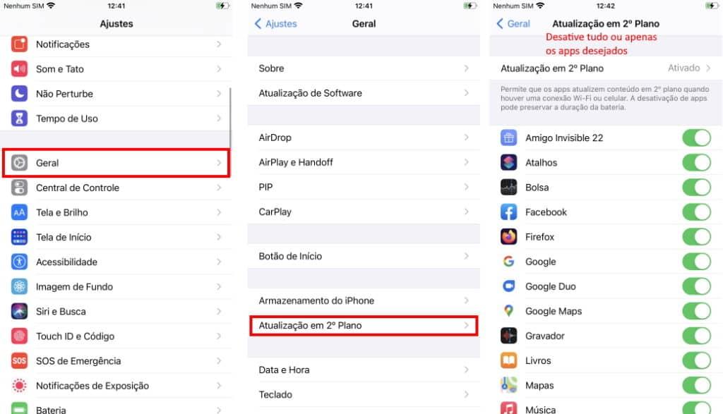 Haga que la batería del iPhone dure más: deshabilite las actualizaciones en segundo plano