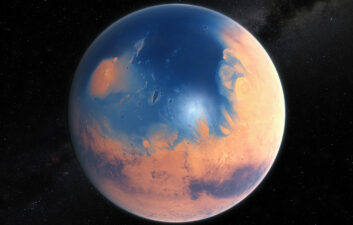 Icy clouds may have warmed Mars enough to sustain rivers and lakes