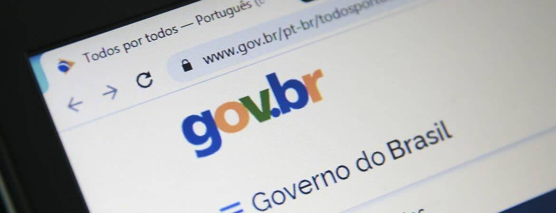 Navegador web exibe a página do portal Gov.br na tela de um computador